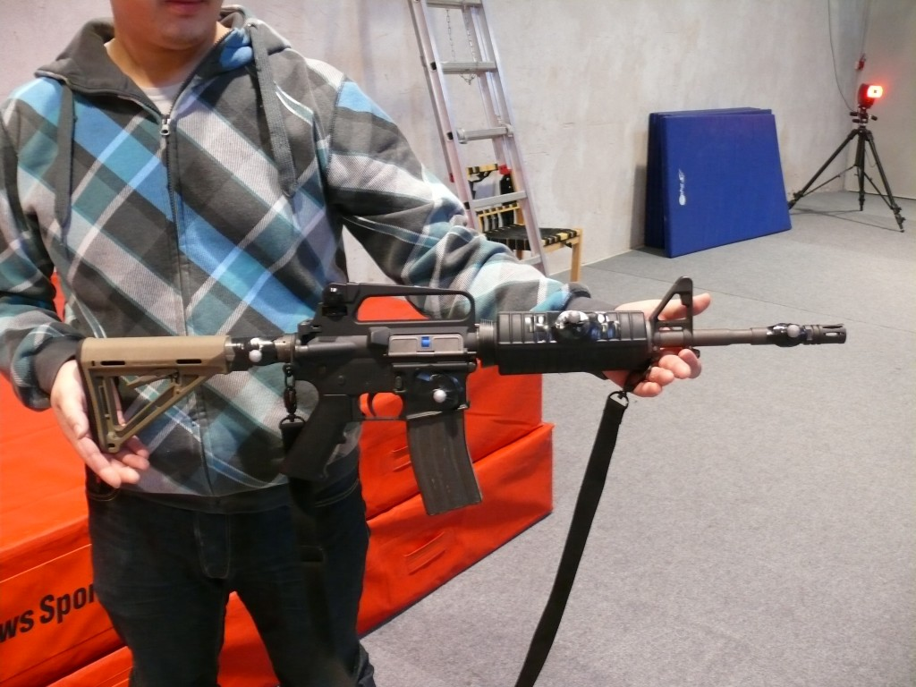 Me with an marked gun prop